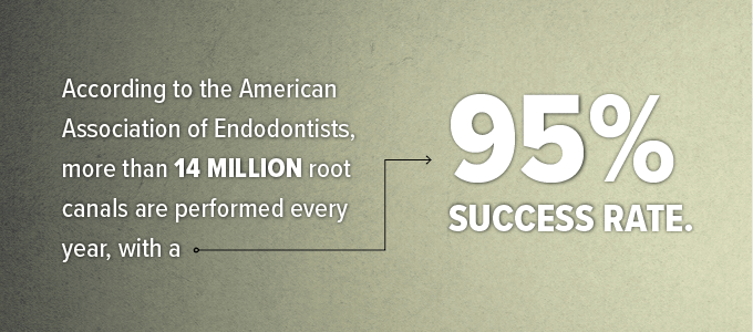 Stat about root canal therapy.