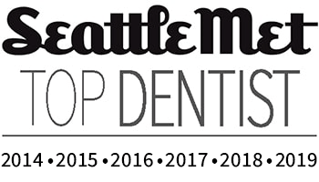 Seattle Met 2014 to 2019 Top Dentist Logo